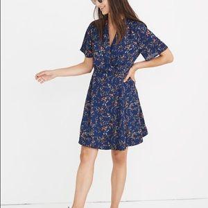 NWT Madewell Amaranth Wrap Dress - Moonless Floral